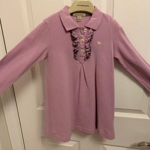Burberry Long sleeve dress - size 4Y